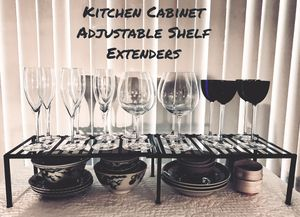 Metal kitchen cabinet shelf extenders (4sets) and one countertop corner unit for Sale in Pittsburgh, PA