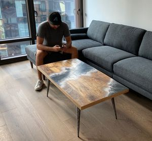 Hand Crafted Solid Wood Coffee Table for Sale in New York, NY