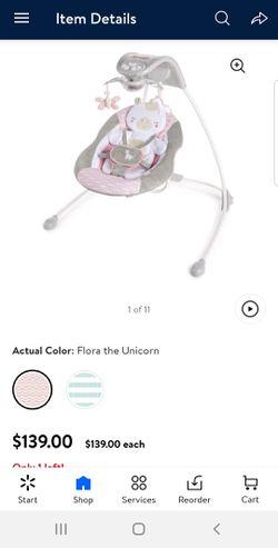 Ingenuity Baby Swing- Unicorn for Sale in Dublin,  GA