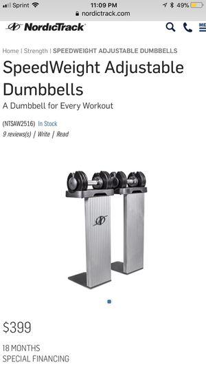 Nordictrack adjustable dumbbells. for Sale in Cleveland, OH