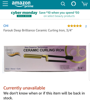 Farouk CHI Ceramic 3/4 Curling Iron for Sale in Tacoma, WA