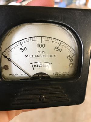 """Antique DC MILLIAMPERES """" Triplet"""" 0-200 model 327-T for Sale in Gresham, OR"""