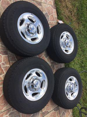 Dodge Ram 2500 aluminum wheels rims tires OEM 94-02 8 lug 8x6.5 cummins turbo diesel parts turbo diesel pickup truck for Sale in Pembroke Pines, FL