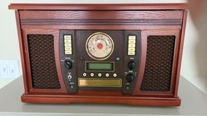 Wooden music center with recordable cd player for Sale in Melbourne, FL