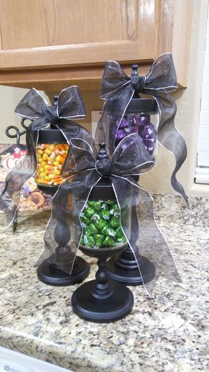 Apothecary Jars or Candy jars or Halloween, Christmas, fall decoration for Sale in Queen Creek, AZ