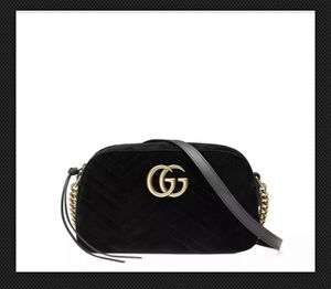 Pre- owned Gucci GG Marmont Velvet Small Shoulder Bag Black for Sale in West Bloomfield Township, MI