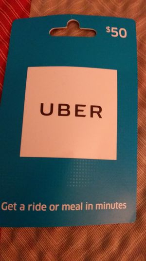 $50 Uber card or Uber Eats for Sale in Saint Paul, MN
