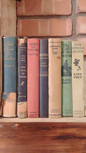 Lot of antique Zane Grey, Doris Mikes Disney, Fletcher Books for Sale in Lakeside, AZ