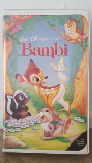Disney VHS tapes, used good condition. Bambi is a Black Diamond edition. for Sale in Surprise, AZ