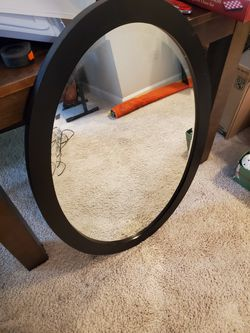 Black oval mirror for Sale in Bellevue,  WA