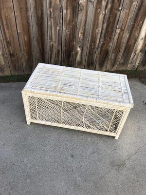 Wicker Rattan Vintage Mid Century Modern Storage Chest for Sale in Huntington Beach, CA