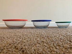 Pyrex Storage Bowls - 3.8 L, 2.4 L, 950ML for Sale in Murrysville, PA