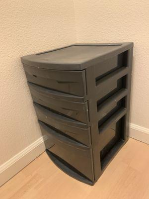 Nice dark plastic storage drawers for Sale in Vancouver, WA