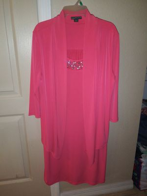 Covington Woman's Pink Sleeved Dress in 1X for Sale in Tampa, FL