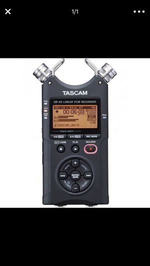 Tascam DR-40 4 Track Linear PCM Handheld Portable Audio Recorder w/ 2GB SD Card for Sale in New York, NY
