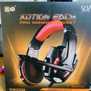 KOTION EACH Pro Gaming Headset G9000 Gold plated 3.5mm 4-pin plug for Sale in North Bergen, NJ