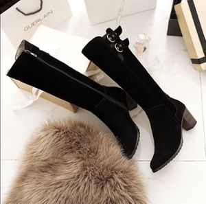 EUC Black Faux Suede Heeled Boots for Sale in Queens, NY