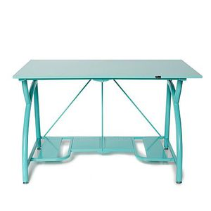 Foldable QVC Origami Desk - Teal for Sale in Temecula, CA