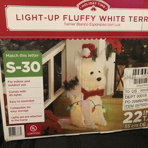 Christmas Light Up Puppy Terrier for Sale in Rancho Cucamonga, CA