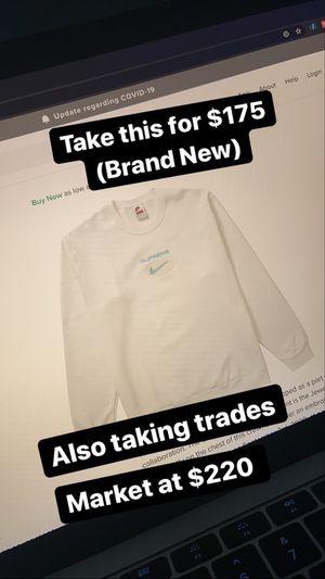 Supreme x Nike Crewneck white for Sale in Gaithersburg, MD