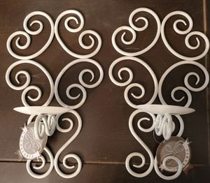 Distressed White Candle Sconces NWT for Sale in Spring, TX