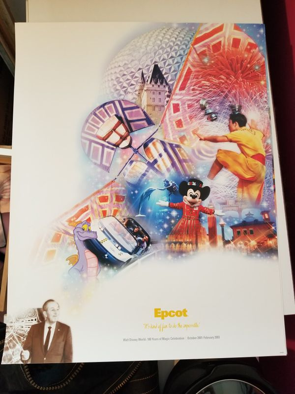 Disney World Parks Posters.