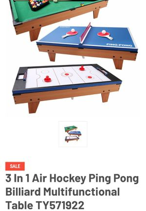 3 In 1 Air Hockey Ping Pong Billiard Multifunctional Table for Sale in Rancho Cucamonga, CA