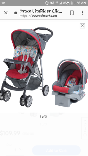 Graco LiteRider click-connect car seat and stroller for Sale in Ayden, NC