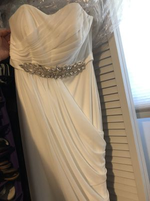 David's Bridal Studio Wedding Dress and sparkly Heels for Sale in Aspen Hill, MD