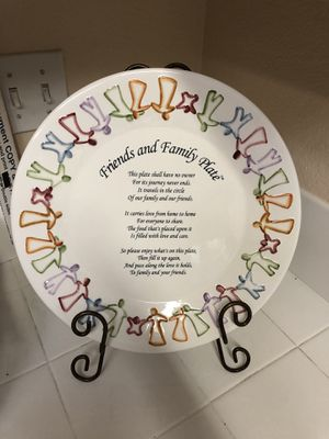 Friends and family plate for Sale in Murrieta, CA