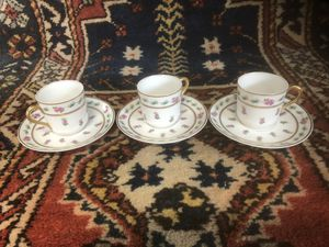 3 T&V Limoges Porcelain Demitasse Cups & Saucers for Sale in Whittier, CA