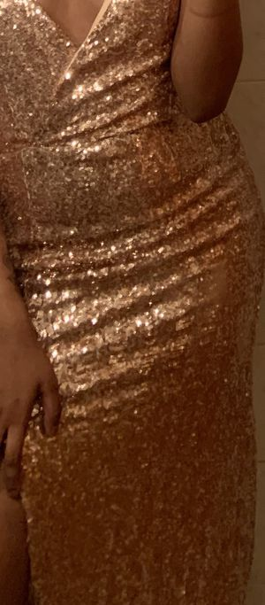 Gold split dress. Party. Wedding. Prom. Gift for Sale in Jersey City, NJ