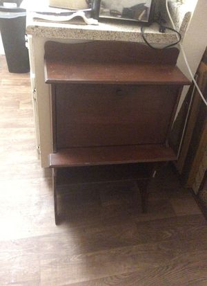 Old childs desk with a drop front and pigeon holes for Sale in Tucson, AZ