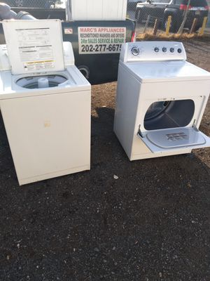 Whirlpool heavy duty washer and dryer works good 6 month warranty for Sale in District Heights, MD