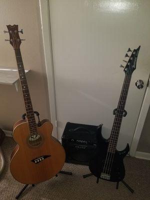 Ibanez EX series electric bass guitar/BT15 practice amp/ Dean acoustic/electric bass guitar for Sale in Alvarado, TX