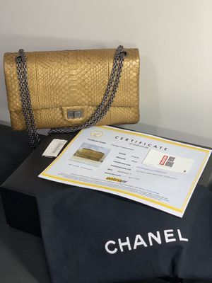 RARE VERIFIED CHANEL Python Reissue Classic Jumbo Double Flap Bag, Ruthenium 💛 for Sale in Chicago, IL