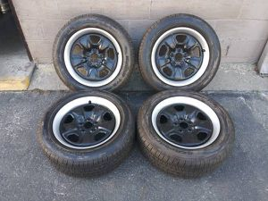Camaro 18 inch steel rims with great tires 5x120mm for Sale in Montebello, CA
