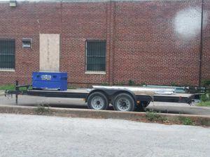 7x18 car hauler 8 lug will haul heavy exuipment for Sale in Dallas, TX