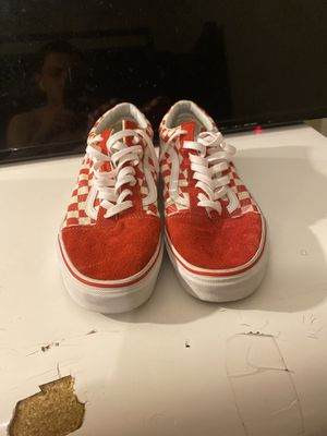 Lowtop Red and White Checkerboard Vans Size 9.5 for Sale in Jacksonville, FL