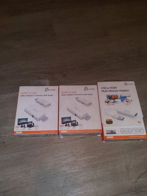 HDMI to VGA and USB to HDMI adapters for Sale in Jacksonville, FL