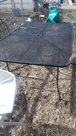 Long black Rod Iron table for Sale in Lexington, KY