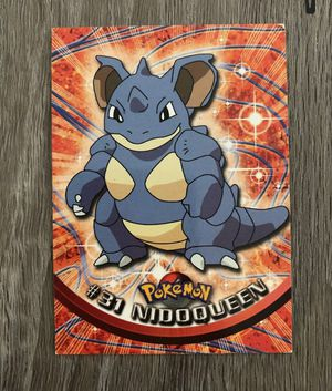 NIDOQUEEN # 31, SERIES 1, YEAR 1999, TOPPS Pokemon for Sale in Davenport, FL
