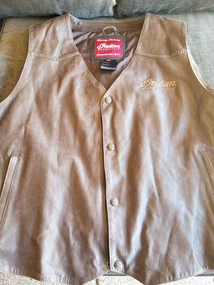 Leather motorcycle vest for Sale in Chandler, AZ