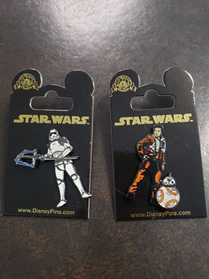 2 DISNEY STAR WARS TRADER PINS NEW NEVER USED for Sale in El Monte, CA