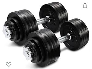 Brand new pair of adjustable cast iron dumbbells for Sale in Fresno, CA