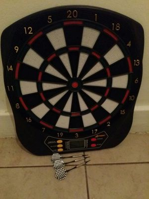 Electronic dart board with complete darts set for Sale in Dearborn, MI