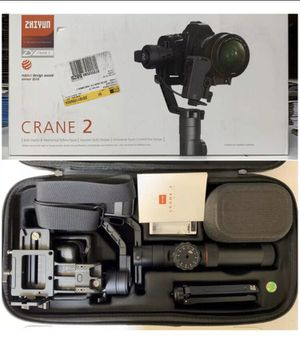 Zhiyun Crane 2 with follow focus for Sale in Tampa, FL