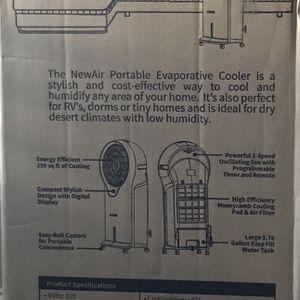Newair Portable Evaporative Cooler Ec111w for Sale in Sunnyvale, CA