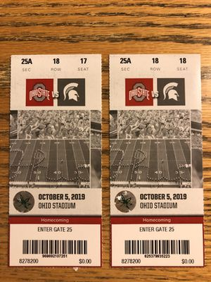 Ohio State Football Tickets for Sale in Columbus, OH