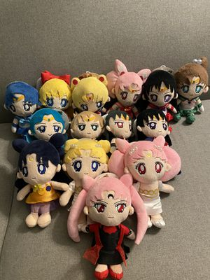 SET OF 14 Rare Authentic Sailor Moon 20th Anime Anniversary Plush set of 14 for Sale in Los Angeles, CA